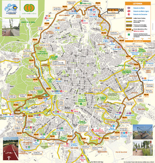 Carte des pistes cyclables de Madrid